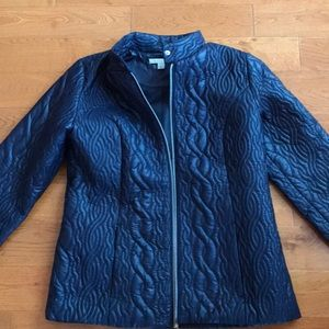 Isaac Mizrahi Live jacket quilted zip front
